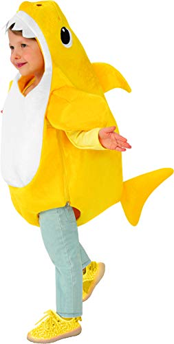 Rubies Official Baby Shark Childs Costume Disfraz, Color amarillo (RU701702)