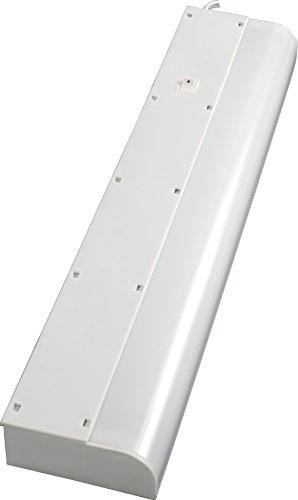GE 16466 Basic 18 Inch Fluorescent Under Cabinet Light Fixture, Plug in, Warm White, Plastic Housing, 5 Foot Cord, Perfect for Kitchen, Office, Garage, Flourescent