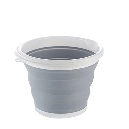 zhouba 3L/5L/10L portátil plegable plegable Cubo de Agua al aire libre de...