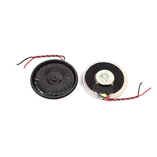 X-DREE 2 Stück 40mm 8 Ohm 1W Metallgehäuse Externe Magnetische Lautsprecher Lautsprecher (4c383e4a2f14d6c599a8587e552a121f)