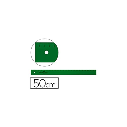 Faber Castell 734177 - Regla técnica graduada, 50 cm, color verde