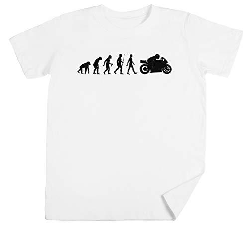 Evolución De Moto Niños Unisexo Chicos Chicas Blanco Camiseta Kids Unisex T-Shirt