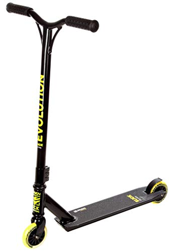 RAVEN Stunt/Freestyle Scooter, Roller, Tretroller, Cityroller Evolution Slick Series 100mm (Lemon)