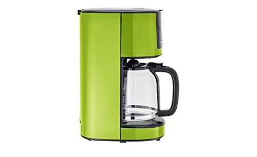 KHG Kaffeemaschine Grün Glas 17,5 cm B x 36,5 cm H automatische Abschaltung nach ca. 30 Minuten, Kanne und Filterhalter spülmaschinengeeignet, Timerfunktion, Farbe-Dekor:Lime (Grün)
