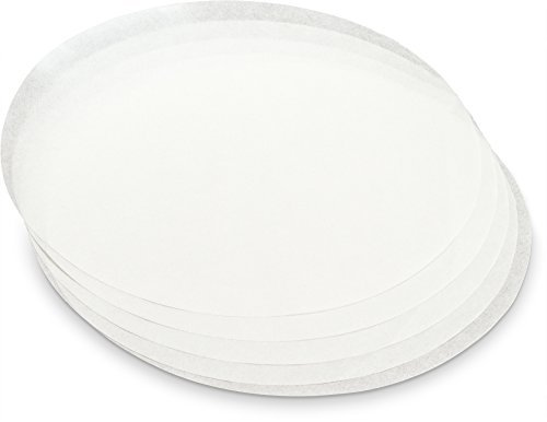KooK Round Parchment Paper in Resealable Packaging, White (200, 9 inch)