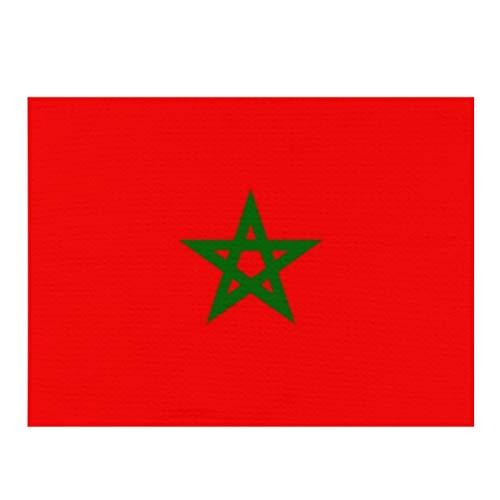 Alfombrilla de secado de platos, bandera de Marruecos, absorbente, reversible, de microfibra, para encimera de cocina, 30,5 x 40,6 cm