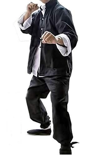 Susichou Bruce Lee Kleidung Tang Anzug Kung Fu Hemd Hunchun Pferd Langarm chinesischen Trainingsanzug Tai Chi Anzug