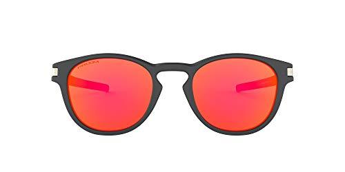 Oakley Herren Latch Sonnenbrille, Aero Matte Carbon / Prizm Ruby, 52