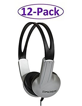 12-Pack ED1TC Insitutional Headphones for Schools, Libraries and Training Departments