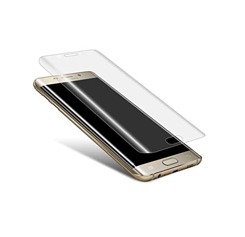 Deet® Protector de pantalla de cristal curvado para Samsung S7 Edge. Cristal...