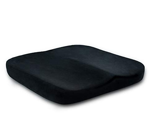 Portable Comfort Cushion Orthopedic Memory Foam Seat Cushion Coccyx & Lower Seat Cushion for Office Car Seats Back Pain Relief Cushion Great Office Chair Cushion (Crystal Super Soft)