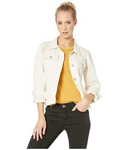 Free People Rumors Denim Jacket Ivory LG (Women