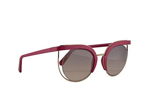 Salvatore Ferragamo SF909S Occhiali da sole Begonia con Lenti Specchio Grigio 51mm 544 SF 909S
