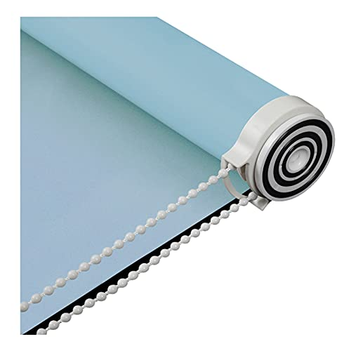 GHGMM HJWMM Estores Enrollables Screen, Cortinas Protección Solar 100% Opacas, Tela Impermeable Protección Privacidad Persianas, Familia Oficina, Fácil Instalar (Color : Blue, Size : 70x120cm)