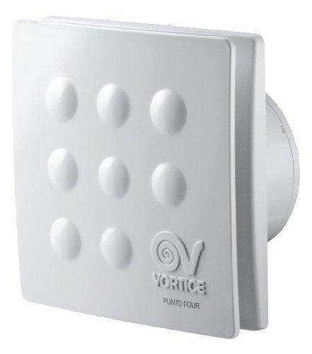 Vortice MFO100 4 11145 Aspiratori elicoidali da muro 10CM, Senza timer, 15 W, Bianco