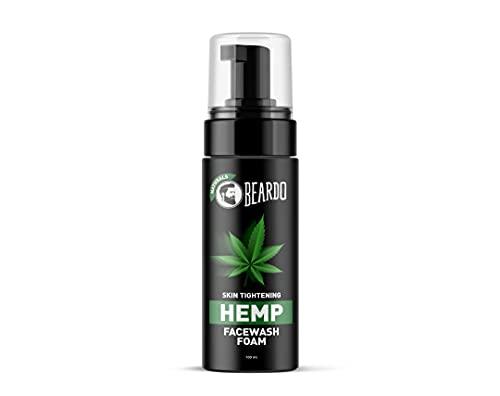Beardo Naturals Hemp Foaming Facewash for Men   Calming face wash with Hemp Seed Oil   Gentle cleansing for skin tightening, 100ml