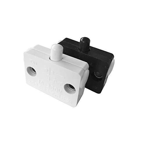 Interruptor de la luz táctil de la puerta del armario 1PCS Interruptor de reajuste automático para el armario de los muebles del hogar (Negro)