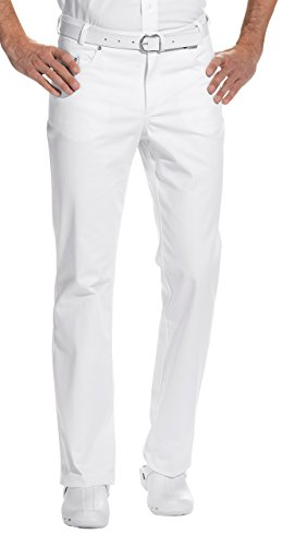 clinicfashion 12013006 Jeans Arzthose Herren weiß, Normalgröße, Baumwolle Stretch, Größe 48