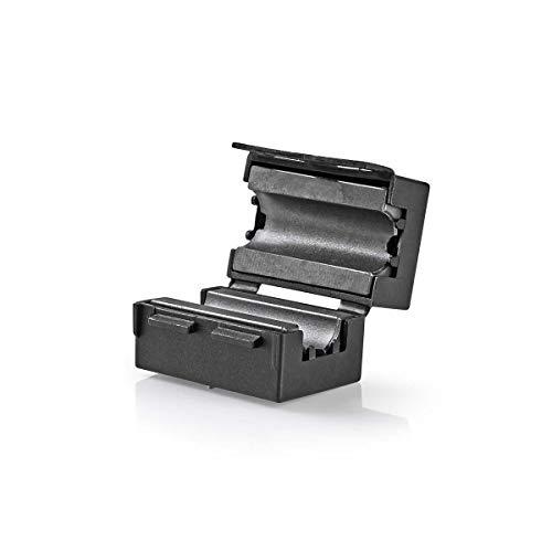 Video-Ferritfilter   300 MHz   Für Kabeldurchmesser bis 10 mm   25 Stück   Schwarz