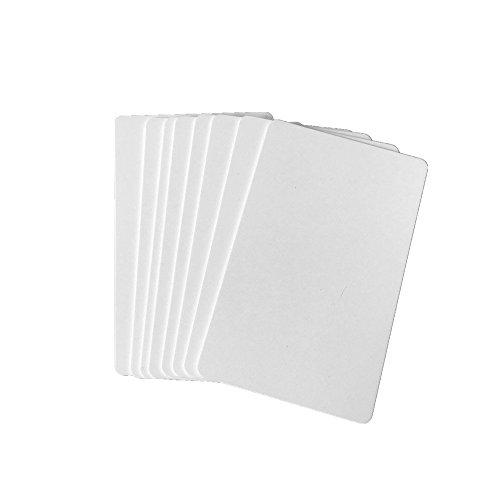 Premium Blanko-PVC-Karten für Ausweis-Drucker, grafische Qualität, weiß, Kunststoff, CR80, 30 mm, für Zebra Fargo, Magicard Drucker 20pcs weiß