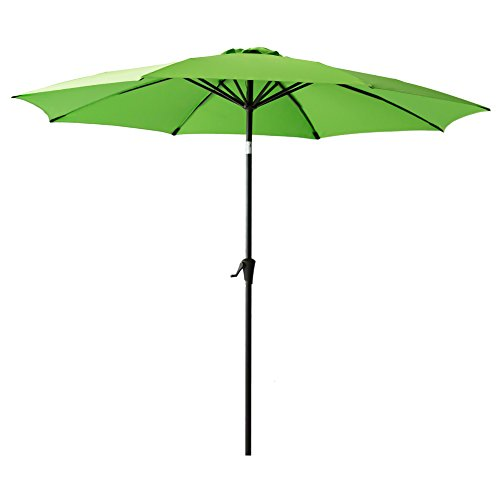 FLAME&SHADE 10' Outdoor Market Umbrella with Tilt for Outside Patio Table Deck Yard or Pool Terrace, Apple Green