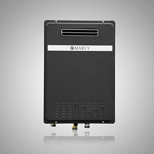 Marey GA30ONG Natural Gas tankless Water Heater, Outdoor Unit, 199.000 BTU, Medium, Black