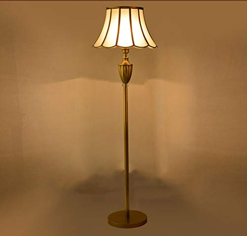 Lámpara de Piso de Cobre Dorado lámpara estándar Moda Royal fortuny Retro Classic Floor Light