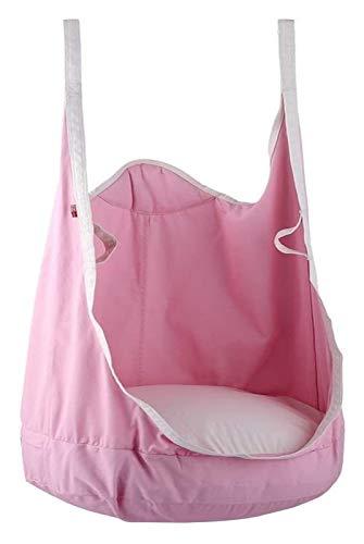 WERTYG Children Pod Swing Chair,Folding Hanging Hammock,Cotton Seat Swing Chair Nook Tent,75KG for Kids Indoor Bedroom Outdoor Tree Travel (Blue) (Color : C)