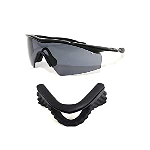 Galaxy Nose Pads Rubber Kits For Oakley M Frame Heater/Strike/Sweep/Hybrid Black