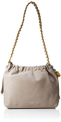 Liebeskind Berlin Braided Bag Hobo Schultertasche, Medium (26 cm x 29 cm x 14cm), string grey