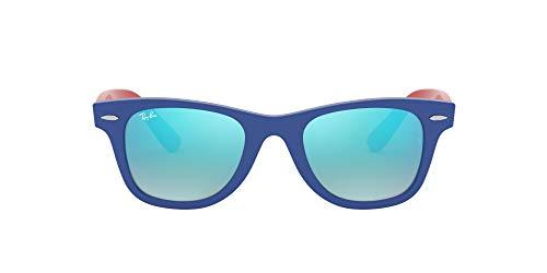 Ray-Ban Rj9066s 7039b7 47 Mm Occhiali da Sole, Blu (Blue/Brown Gradient Mirror Blue), 47 Unisex-Bambini