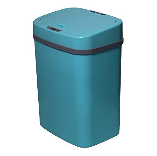 TOO STC-12 - Cubo de basura con sensor de movimiento, cubo de basura automático con 12 l, con sensor de infrarrojos, varios colores, Azul