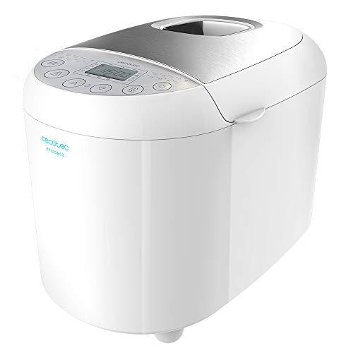 Cecotec Bread&Co 1000 Delicious - Panificadora (19 Programas, 1 Kg, 15 Horas programables, Cubeta Apta para lavavajillas, Recetario)