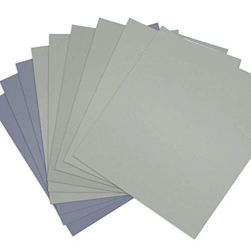 Fltaheroo 15 Pcs 9 X 11 Inch High Grit Wet and Dry Sandpaper Assortment 3000 5000 7000 for Car Auto Automotive Paint
