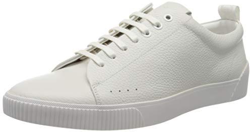 HUGO Herren Zero_Tenn_gr Sneaker, Weiß (White 100), 39 EU