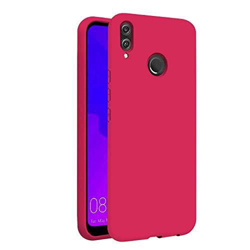 TBOC Funda para Huawei P Smart Plus P Smart+ Nova 3i [6.3'] - Carcasa Rígida [Fucsia] Silicona Líquida Premium [Tacto Suave] Forro Interior Microfibra [Protege la Cámara] Resistente Suciedad Arañazos