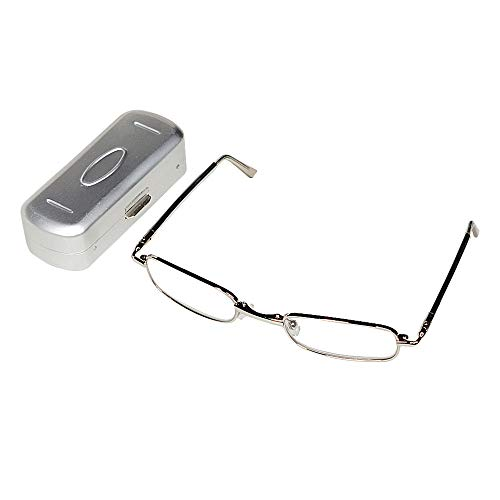 THG Vision Care Acero Inoxidable Full Frame de viaje de bolsillo Gafas...