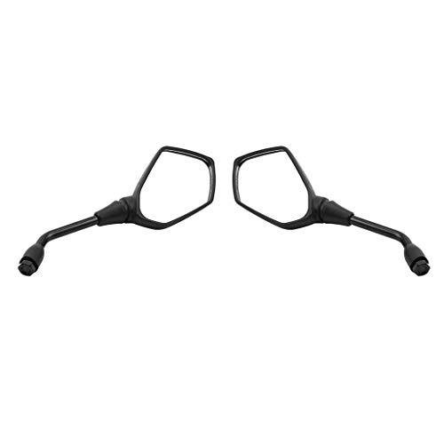 B Blesiya 1 Par de Espejos Retrovisores de Motocicleta, Espejo Reflectante Flexible de Izquierda a Derecha de Ancho