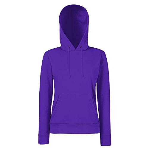 Fruit of the Loom - Lady-Fit Hooded Sweat M,Purple