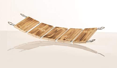 Medikratz Catwalk Katzenbrücke, Katzen Hängebrücke, Katzen Wandpark, Kletterwand aus hochwertigem Massivholz in verschiedenen Längen, 50cm - 200cm (Abgeflammt) (200cm)