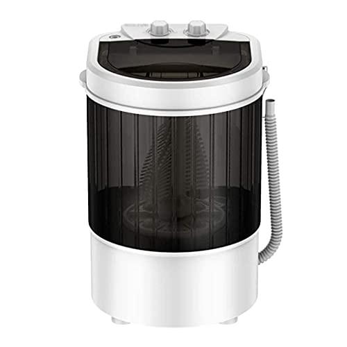 QQW Lavadoras Lavadora Lavadora Pequeña Lavadora Portátil Hogar Semi-Automático Lavadora Deshidratación, Capacidad de Lavado 3Kg, 170W (Blanco)/Negro