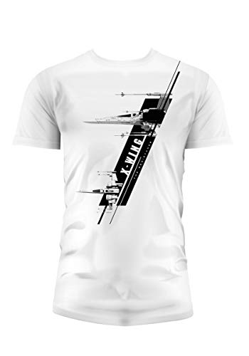 SD toys - T-Shirt - Star Wars Episode 7- Homme X-Wing Blanc Taille XXL - 8436546898795