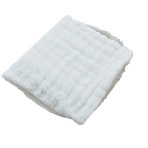 4 unids/Lote Pañuelo de bebé Cuadrado Toalla de Cara de bebé 28x28cm Toalla de Cara de algodón Infantil de Muselina Toallita de un tamaño Blanco