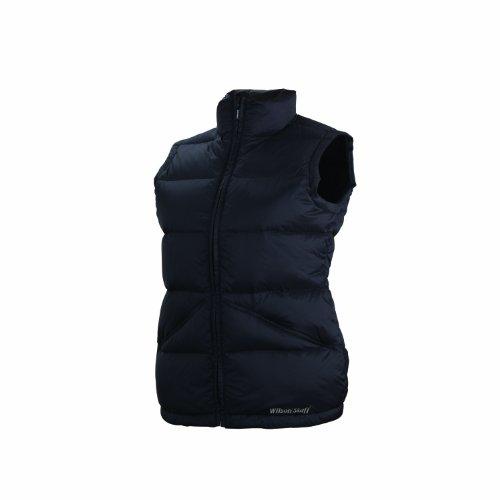 Wilson Staff Damen Textil Golf Ladies Quilted Tech Vest, Schwarz, M