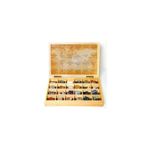 Caja minerales del mundo 24 unidades: Amazon.es: Juguetes y juegos