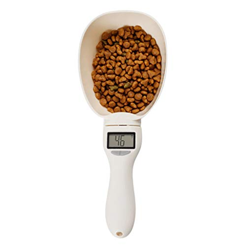 Best Review Of 800G/0.1G Pet Food Water Measuring Spoon Cup, with Led Display Kitchen Scale Scoop Po...