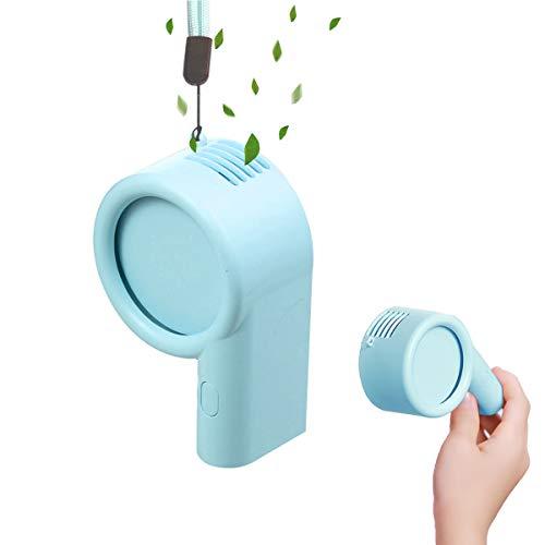 Personal Necklace Portable Fan, Mini Handheld Fan3 Adjustable Speeds, USB Rechargeable Desk Fan, Perfect for Kids Women Men Indoor or Outdoor Activities(Blue)