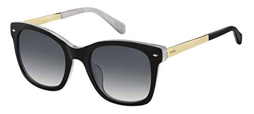 Fossil Fos 2086/S Gafas de sol, Multicolor (Blck Whte), 51 para Mujer