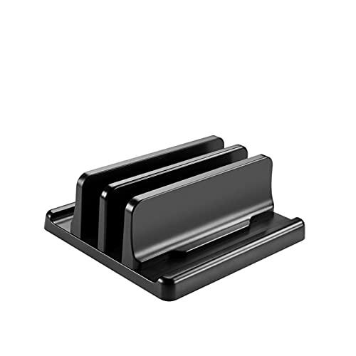 PPCAK Pantalla de portátil Vertical plástica Soporte para computadora de Escritorio Ajustable Dock-Space-Ahorro 3 en 1 (Color : Dual Slot)