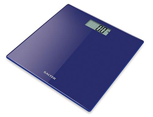 Salter 9069 BL3R - Báscula digital, plataforma de cristal templado, capacidad 180 kg, color azul